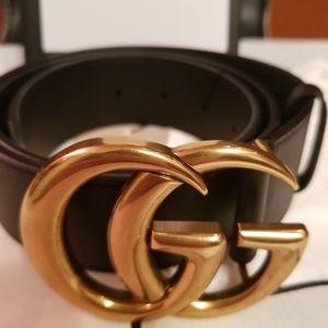 Gold Brass GG belt